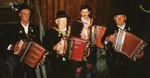 Vereinsmusikanten: Hansl, Jackl, Klaus u. Zillinger